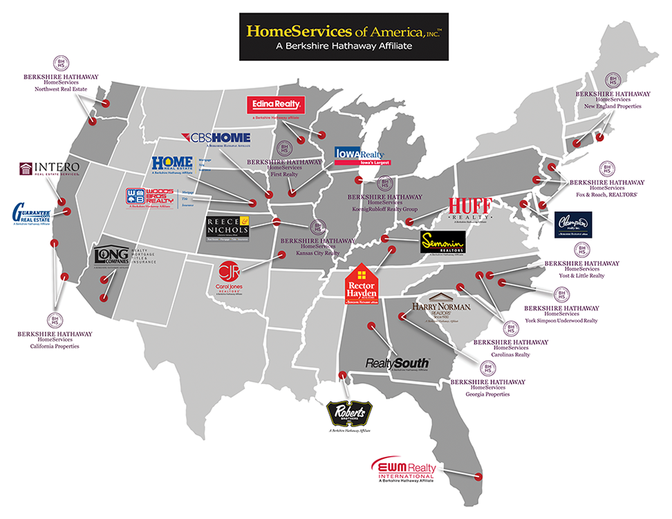Partners Map HomeServices of America